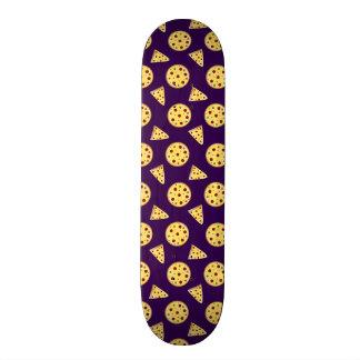 Purple pizza pattern custom skateboard