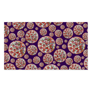 Purple pizza pie business card