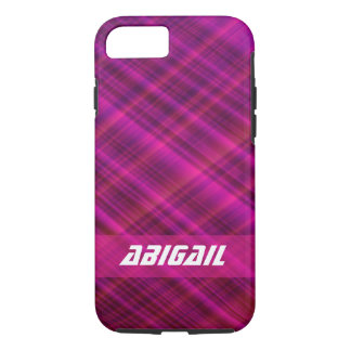Purple Plaid Apple iPhone Case 8/7, Tough