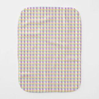 Purple Plaid burp cloth