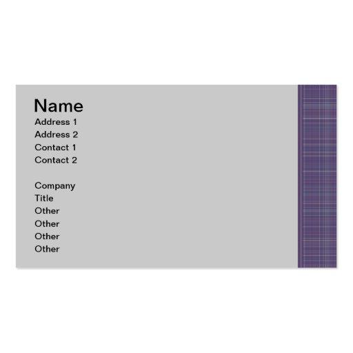 Purple Plaid business card