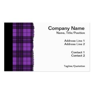 Purple Plaid Business Card Templates