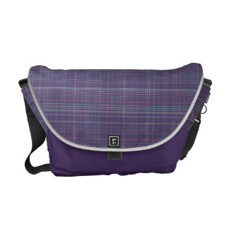 Purple Plaid Courier Bags