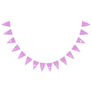 Purple Plaid Its a Girl Baby Shower Bunting Bunting
