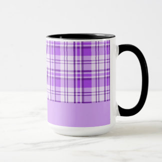 Purple Plaid Mug