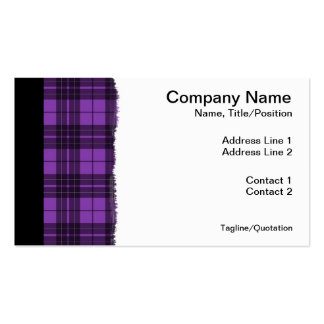 Purple Plaid Pack Of Standard Business Cards