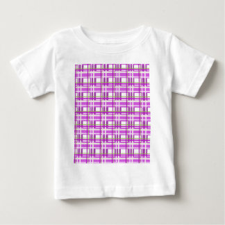 Purple plaid pattern baby T-Shirt
