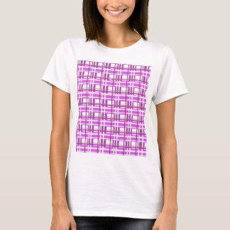 Purple plaid pattern T-Shirt