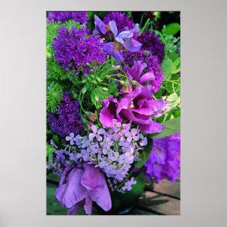 Purple Planter Floral Arrangement Print
