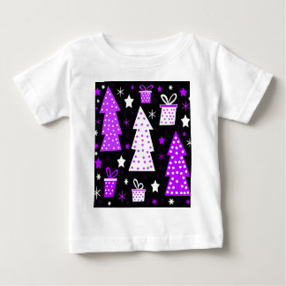 Purple playful Xmas Baby T-Shirt