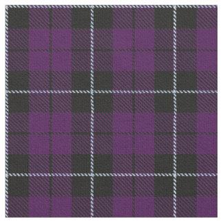 Purple/plum black w/white stripe plaid fabric