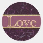 Purple & Plum Love Sticker/Seal