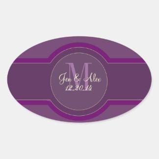 Purple Plum Wedding Favour Stickers