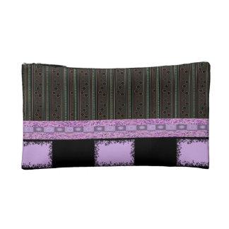 purple pokadot girls cosmetic bag