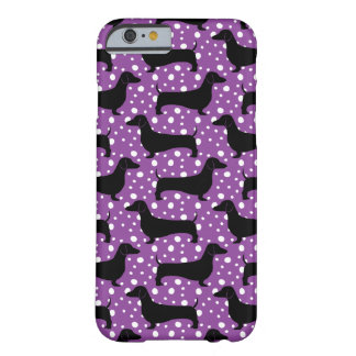 Purple Polka Dachshunds Barely There iPhone 6 Case