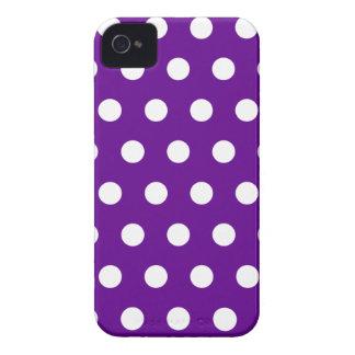 Purple Polka Dot Blackberry Case