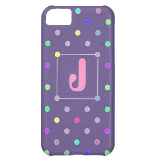 Purple Polka-dot iphone4 Id case iPhone 5C Case