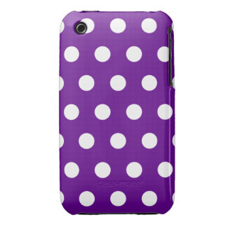 Purple Polka Dot iPhone 3G Case Case-Mate iPhone 3 Case