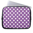 Purple Polka Dot Laptop Sleeve