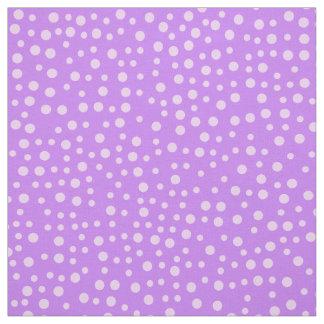 Purple Polka Dot Pattern Fabric