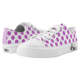 Purple polka dot pattern printed shoes