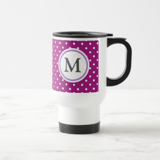 Purple Polka Dot Pattern Travel Mug