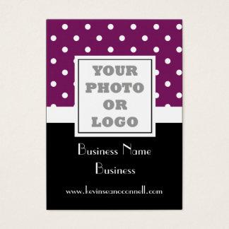 Purple polka dot  photo logo