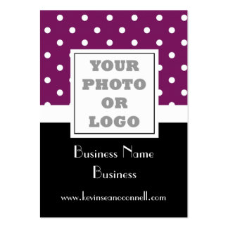Purple polka dot  photo logo pack of chubby business cards