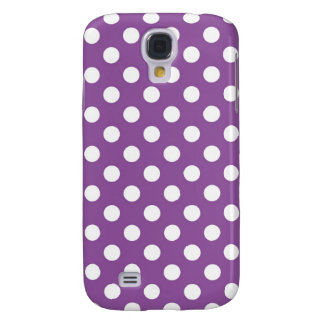 Purple Polka Dot Samsung Galaxy S4 Cases
