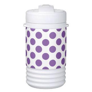 Purple Polka Dots Cooler