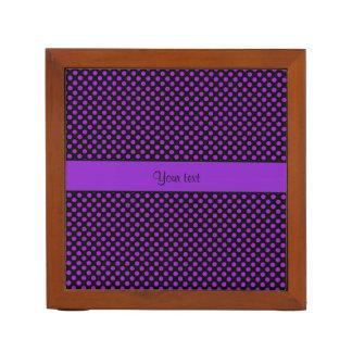 Purple Polka Dots Desk Organiser