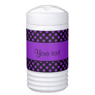 Purple Polka Dots Drinks Cooler