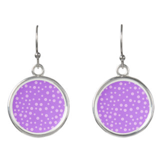 Purple Polka Dots Earrings