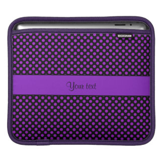 Purple Polka Dots iPad Sleeve