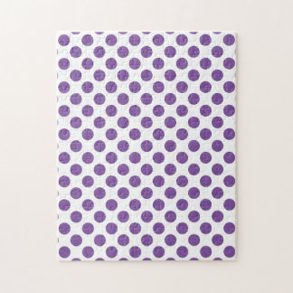 Purple Polka Dots Jigsaw Puzzle