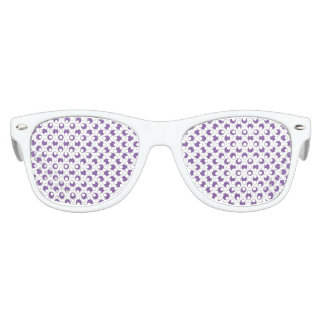 Purple Polka Dots Kids Sunglasses