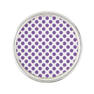 Purple Polka Dots Lapel Pin