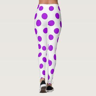 Purple Polka Dots Leggings