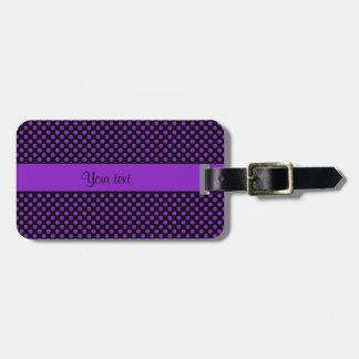 Purple Polka Dots Luggage Tag