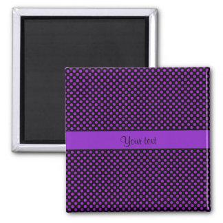 Purple Polka Dots Magnet