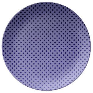 Purple Polka Dots Porcelain Plate