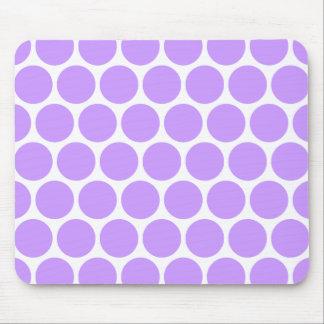 Purple Polka Dots Mousepad
