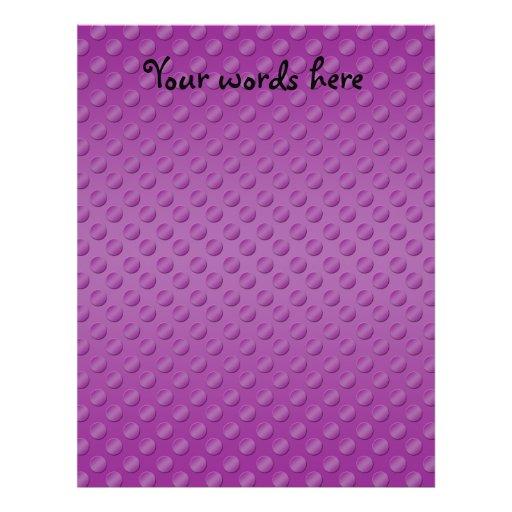 Purple polka dots on purple background flyer design