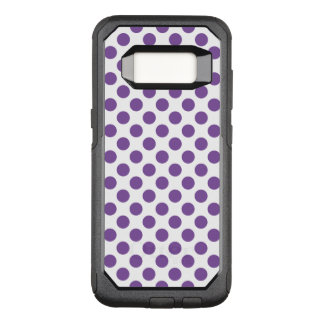 Purple Polka Dots OtterBox Commuter Samsung Galaxy S8 Case