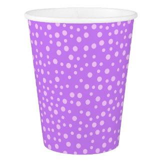 Purple Polka Dots Paper Cup