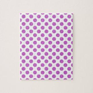 Purple polka dots pattern puzzle