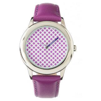 Purple polka dots pattern watch