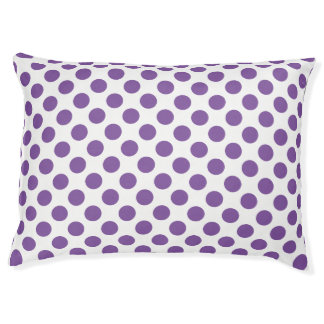 Purple Polka Dots Pet Bed