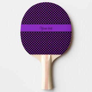 Purple Polka Dots Ping Pong Paddle