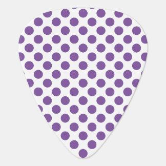 Purple Polka Dots Plectrum